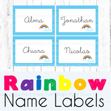24+ Editable Rainbow Name Labels / Supplies Labels / Libra