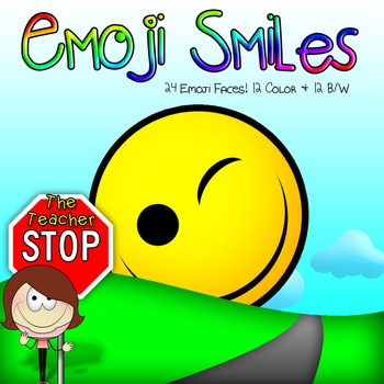 Emoji Emoticon Smiley Faces - 24 Clipart Images {The Teacher Stop}