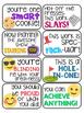40 Emoji Themed Positive Headers for Displaying Student Work Bulletin Board Idea