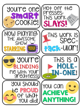 40 Emoji Themed Positive Headers Back to School Bulletin Board Idea