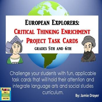 European Explorer Enrichment Task Cards: Creative Narrativ