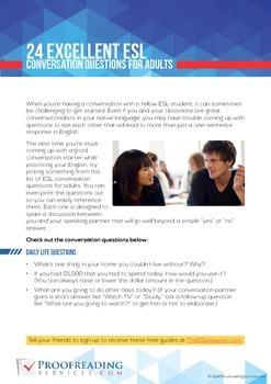 24 Excellent ESL Conversation Questions for Adults