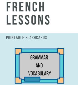 24 FLASHCARDS - French grammar and vocabulary (memos)