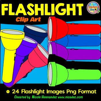 Flashlight Clip Art Images for Teachers