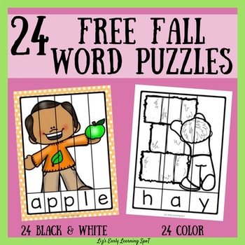 24 Free Fall Word Puzzles