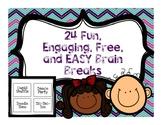24 Fun, Engaging, Free Brain Breaks