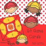 24 Math Game Cards for Beginner RED Level