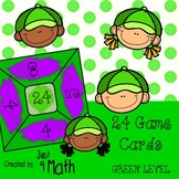 24 Math Game Cards for Intermediate GREEN Level
