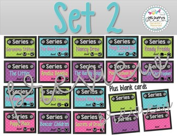 24 Guided Reading Labels for Series and Authors
