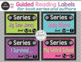 48 Guided Reading Labels for Series and Authors