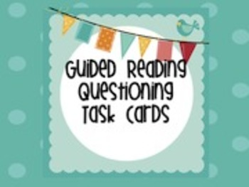 24 Guided Reading Questions Task Cards/Story Sticks