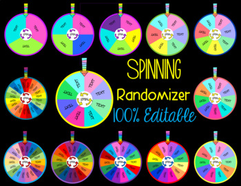 Spinning Randomizer 100% EDITABLE
