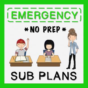 5th Grade Sub Plans