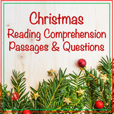 24 HOUR DISCOUNT! Christmas Reading Comprehension Passages