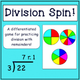 Division With Remainders Game: Division Spin!