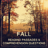 Fall Reading Comprehension Passages and Questions