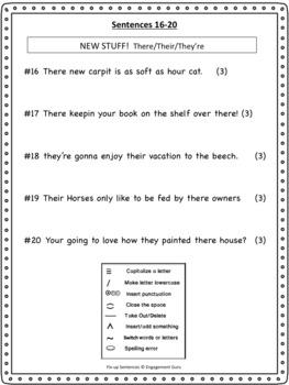 Fix Up Sentences (Morning Work)