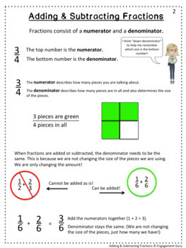 Math Intervention: Adding & Subtracting Fractions