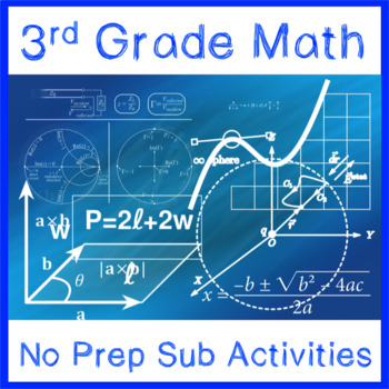 Math Sub Plans (3rd Grade)