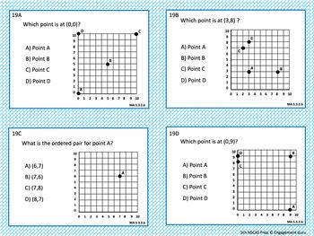 NSCAS 5th Grade Math Test Prep Task Cards