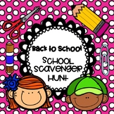 BACK TO SCHOOL SCAVENGER HUNTS