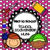 BACK TO SCHOOL SCAVENGER HUNTS