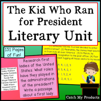Literary Unit - The Kid Who Ran for President for Promethean Board Software Use