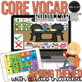 Core Vocabulary Boom Cards™: Spring Themed Speech Therapy