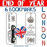 "June 17 - End of the year BOOKMARKS - ""London"""