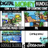 DIGITAL Money Adventures GROWING Bundle! Google Slides + Seesaw