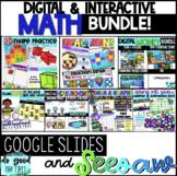 Digital Math Bundle - Google Slides & Seesaw! - Distance Learning