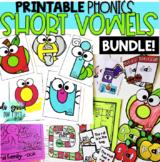 Short Vowel Bundle - PRINTABLES & Hands On Activities!
