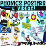 Phonics Posters & Videos for the YEAR - GROWING Bundle!