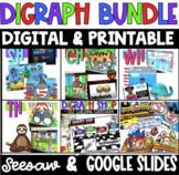 DIGITAL & Printable Digraphs Bundle sh, th, wh, ch - Google Slides & Seesaw