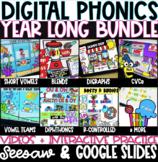 YEAR LONG DIGITAL PHONICS! Google Slides, Seesaw, PPT GROW