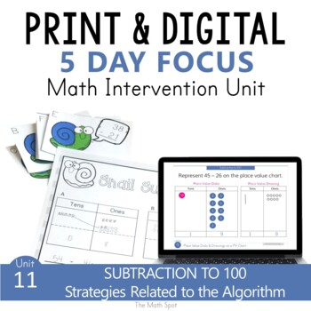 Subtraction With Regrouping Within 100 | Small Group Math Unit