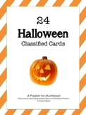 24 Halloween Classified Cards Flash Cards