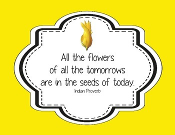 "24 Heart-Warming Classroom Quotes Themed ""Children are Like Flowers"""