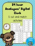 24 Hour Analogue Digital Clock Time Matching