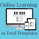 91 Templates of Online Learning Keyboard Bundle