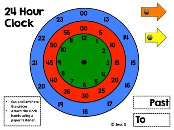 24 Hour Clock Time FREEBIE!