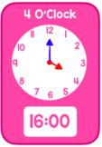 24 Hour Clocks (O'Clock, Half Past, Quarter Past, Quarter To)