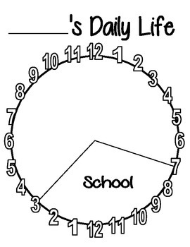24 Hour Day Pie Graph - Time - Personal Schedule