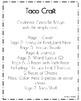 Cinco De Mayo Craft for Kindergarten: Taco (May 5th)