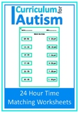 24 Hour Time Matching Autism Special Education Life Skills