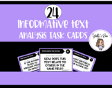 24 Informational Text Task Cards CCSS