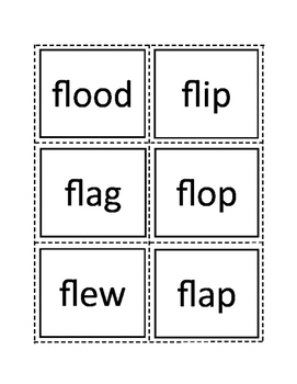 36 Initial L Blend Flash Cards
