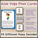 Kids Yoga Pose Cards with 24 Different Poses