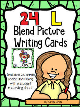 24 L Blend Picture Writing Cards