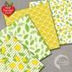 Digital Papers - Lemonade paper, 24 mint and lemon papers,